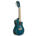 LANIKAI - QUILTED MAPLE BLUE CUTAWAY ELECTRIC CONCERT