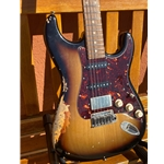 Tom Anderson S Series Guitar Sunburst Distressed with Case