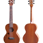 ISLANDER MT-4-ISL Traditional Tenor Ukulele with Mahogany Top, Hawaiian Islands Engraving