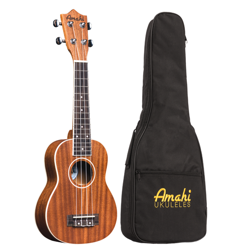 AMAHI UK217S SOPRANO MAHOGANY UK W/BAG