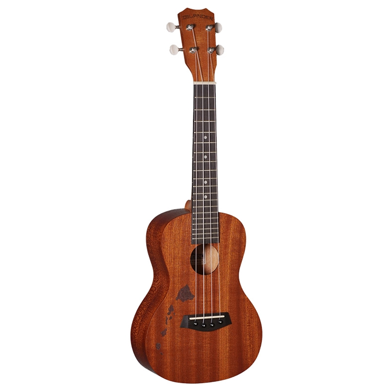 ISLANDER MC-4-ISL Concert Ukulele with Mahogany Top, Hawaiian Islands Engraving