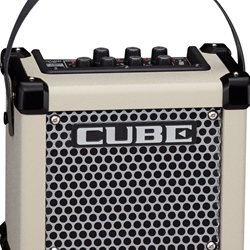 Roland M-CUBE-GXW Battery Powered Guitar Amp w/ COSM, i-Cube Link Effects & 8 Memories (white)