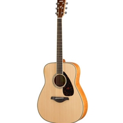 Yamaha FG840 NATURAL FOLK GUITAR SOLID TOP FLAME MAPLE B/S
